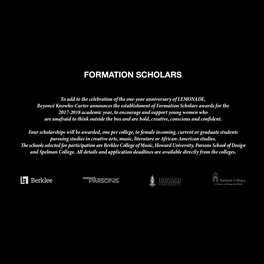 FORMATION SCHOLARS