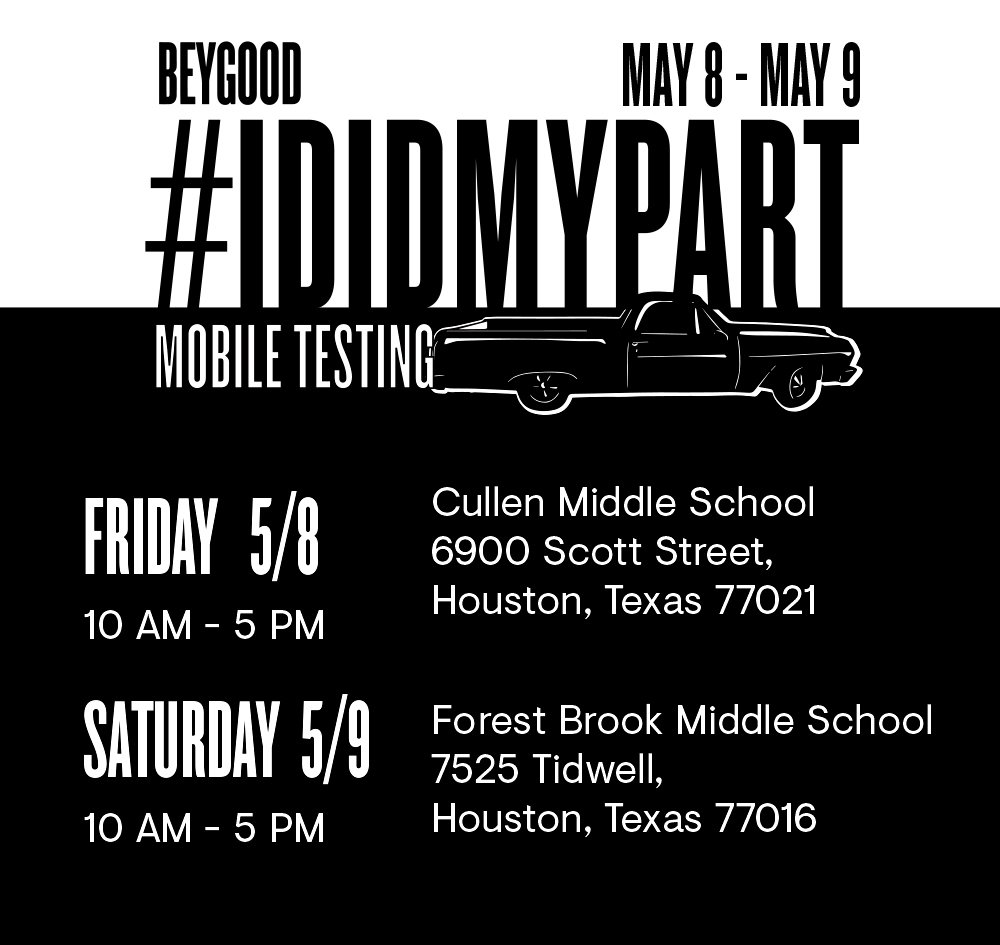 BeyGOOD Supports #IDIDMYPART Mobile Testing